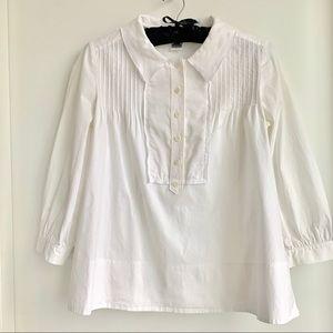 Diane Von Furstenberg cropped white shirt